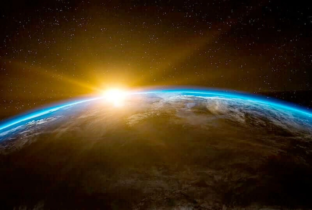 sunrise over earth.