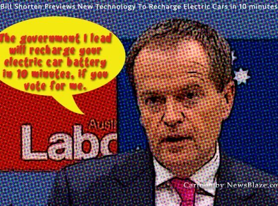 bill shorten charges batteries.